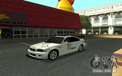 BMW M3 E46 Tunable para GTA San Andreas vista traseira