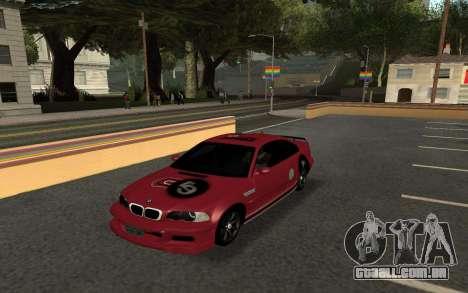 BMW M3 E46 Tunable para GTA San Andreas traseira esquerda vista