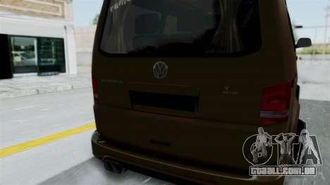 Volkswagen Transporter TDI Final para GTA San Andreas vista interior