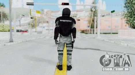 Gendarmerie, Que A Riot Pele para GTA San Andreas terceira tela