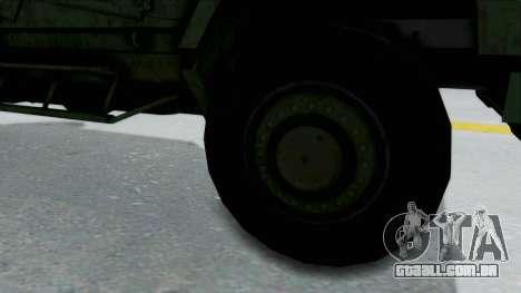 Croatian Oshkosh M-ATV Woodland para GTA San Andreas vista traseira