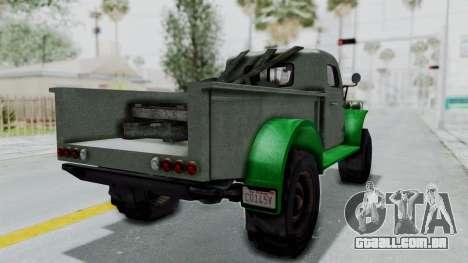 GTA 5 Bravado Duneloader Cleaner Worn IVF para GTA San Andreas traseira esquerda vista