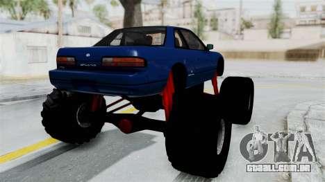 Nissan Silvia S13 Monster Truck para GTA San Andreas vista direita