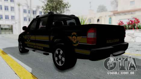 Chevrolet S10 Policia Caminera Paraguaya para GTA San Andreas esquerda vista