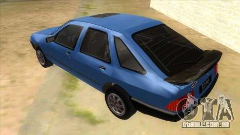 Ford Sierra 1.6 GL Updated para GTA San Andreas traseira esquerda vista