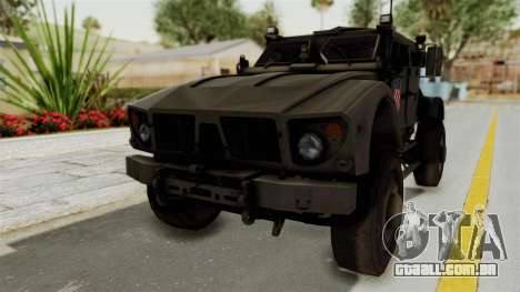 Croatian Oshkosh M-ATV Desert para GTA San Andreas vista direita