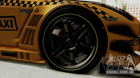 Nissan GT-R Fake Taxi para GTA San Andreas vista traseira