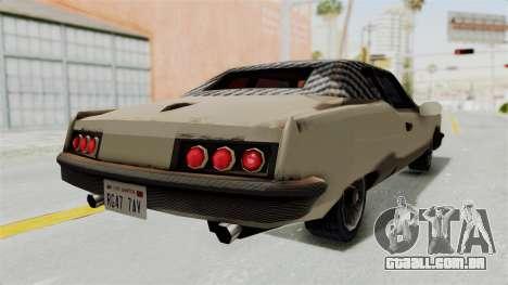 Lobo Custom para GTA San Andreas traseira esquerda vista