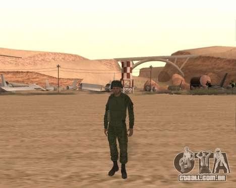 Motorizado privado rifle de tropas para GTA San Andreas terceira tela