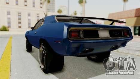 Plymouth Hemi Cuda 1971 Drag para GTA San Andreas esquerda vista
