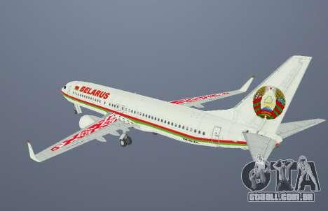 Boeing 737-800BBJ2 EW-001PA para GTA San Andreas