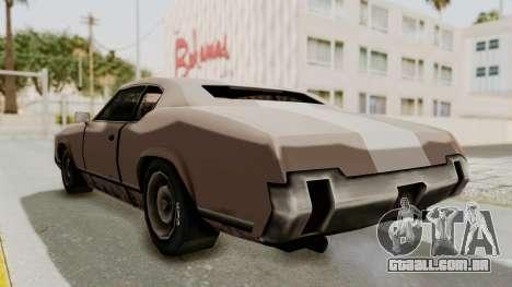 GTA Vice City - Sabre Turbo (Sprayable) para GTA San Andreas traseira esquerda vista