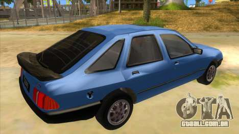 Ford Sierra 1.6 GL Updated para GTA San Andreas vista direita