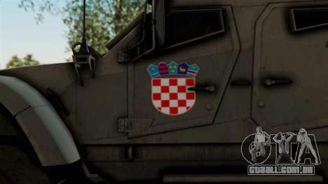 Croatian Oshkosh M-ATV Desert para GTA San Andreas vista traseira