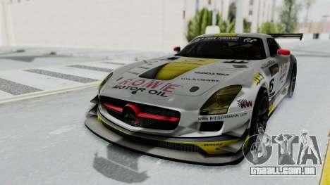 Mercedes-Benz SLS AMG GT3 PJ7 para GTA San Andreas vista traseira