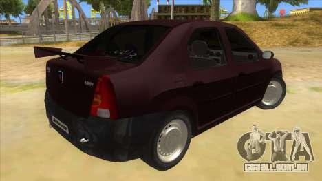 Dacia Logan Sport para GTA San Andreas vista direita