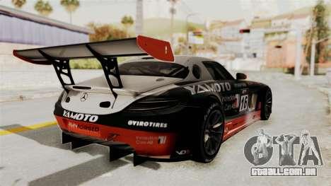 Mercedes-Benz SLS AMG GT3 PJ2 para o motor de GTA San Andreas