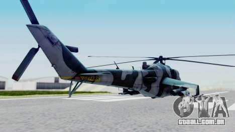Mi-24V GDR Air Force 45 para GTA San Andreas traseira esquerda vista