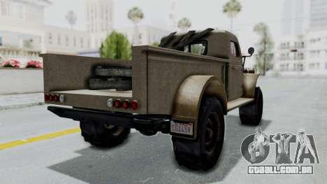 GTA 5 Bravado Duneloader Cleaner Worn para GTA San Andreas traseira esquerda vista