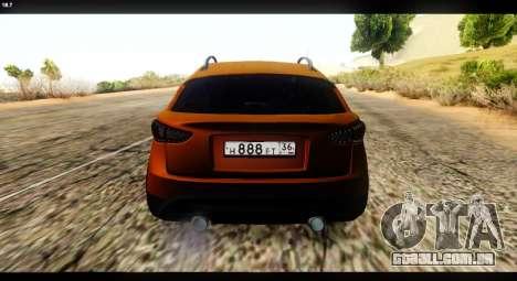 Infiniti FX37 para GTA San Andreas traseira esquerda vista