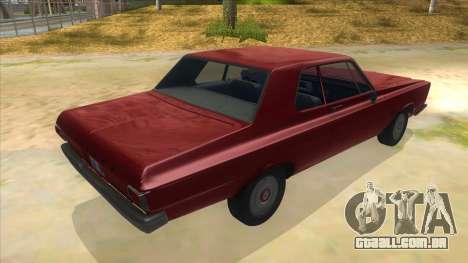 1965 Plymouth Belvedere 2-door Sedan para GTA San Andreas vista direita