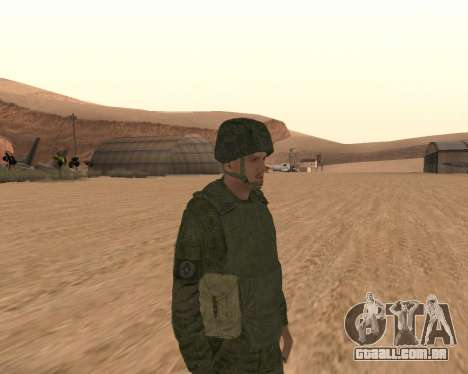 Motorizado privado rifle de tropas para GTA San Andreas segunda tela