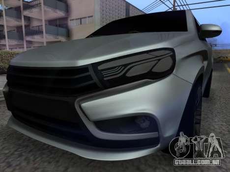 Lada Vesta HD (beta) para GTA San Andreas vista traseira