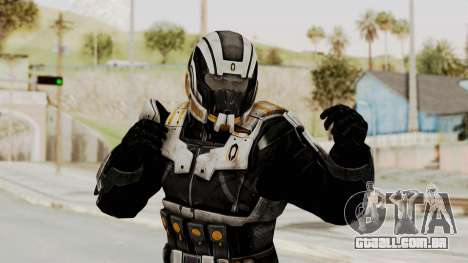 Mass Effect 3 Shepard Ajax Armor with Helmet para GTA San Andreas