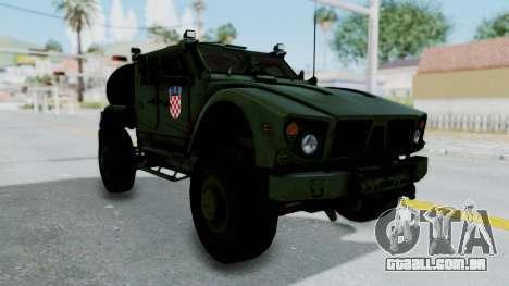 Croatian Oshkosh M-ATV Woodland para GTA San Andreas vista direita
