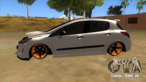Peugeot 308 Full Sport para GTA San Andreas esquerda vista