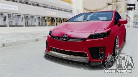 Toyota Prius 2011 Elegant Modification para GTA San Andreas traseira esquerda vista