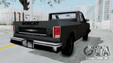 Beta VC Bobcat para GTA San Andreas traseira esquerda vista