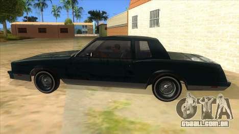 Chevrolet Monte Carlo 81 para GTA San Andreas esquerda vista