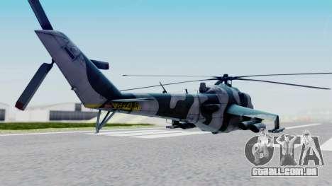 Mi-24V GDR Air Force 45 para GTA San Andreas esquerda vista