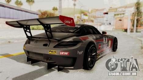 Mercedes-Benz SLS AMG GT3 PJ2 para GTA San Andreas vista inferior