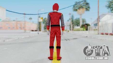 Power Rangers Ninja Storm - Red para GTA San Andreas terceira tela