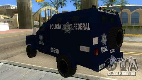 Black Scorpion Police para GTA San Andreas traseira esquerda vista