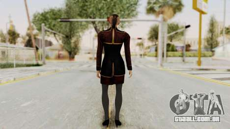 Mass Effect 3 Jack Official Skirt para GTA San Andreas terceira tela