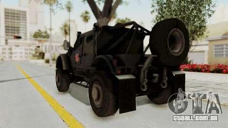 Croatian Oshkosh M-ATV Desert para GTA San Andreas traseira esquerda vista