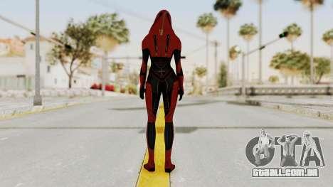 Mass Effect 2 Kasumi Red para GTA San Andreas terceira tela