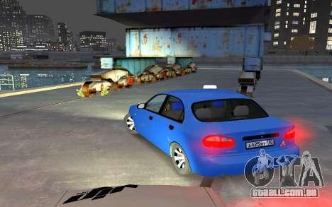 Daewoo Lanos Taxi para GTA 4 traseira esquerda vista