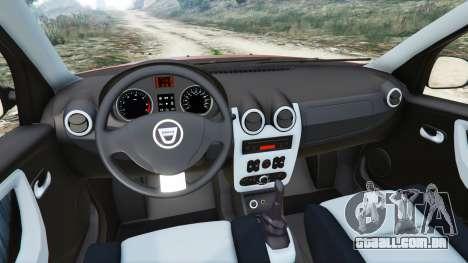 GTA 5 Dacia Duster 2014 traseira direita vista lateral