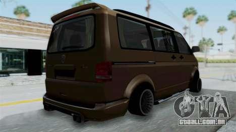Volkswagen Transporter TDI Final para GTA San Andreas esquerda vista