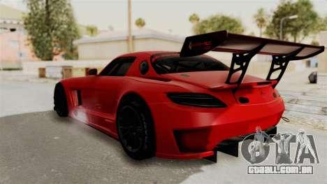 Mercedes-Benz SLS AMG GT3 PJ2 para GTA San Andreas esquerda vista