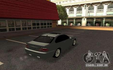BMW M3 E46 Tunable para GTA San Andreas esquerda vista