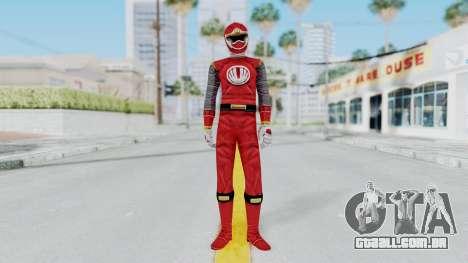 Power Rangers Ninja Storm - Red para GTA San Andreas segunda tela
