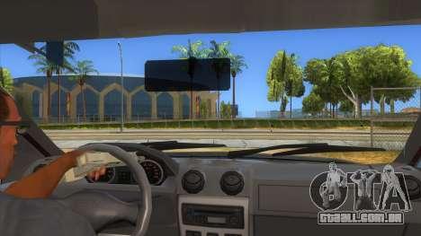 Dacia Logan Sport para GTA San Andreas vista interior