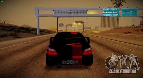 Subaru Impreza WRX STi Besta Negra para GTA San Andreas vista interior