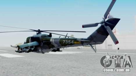 Mi-24V Czech Air Force 7354 para GTA San Andreas esquerda vista