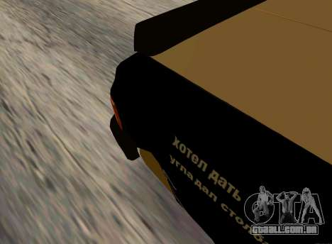 Volga 3110 Classic Batalha para GTA San Andreas traseira esquerda vista